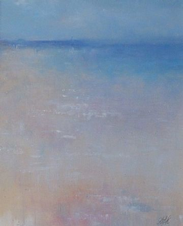 Amanda Hoskin Original Oil Painting Misty Waters St Ives Cornwall
